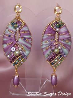 Perline e Bijoux: Nuova parure con seta shibori