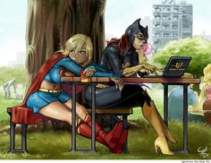 Supergirl and Batgirl by Agustinus Kwa Hong Yen    Best Art Ever (This Week) - 08.03.12 - ComicsAlliance | Comic book culture, news, humor, commentary, and reviews