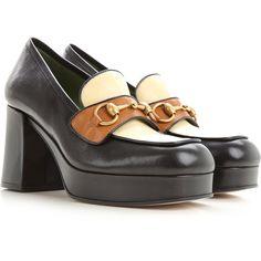Comfortable Heels, Gold Print, Gucci Shoes, Print Logo, High Heel Pumps, Womens High Heels, Fashion Details, Dust Bag, Oxford Shoes