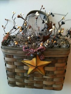 Primitive wall basket
