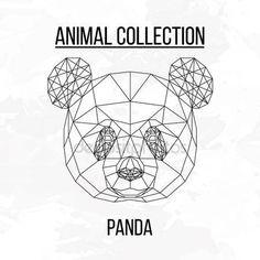 Pobieraj - Panda geometrycznej głowa — Ilustracja stockowa #106488846