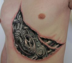 Image result for biomechanical tattoos