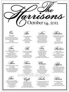 Wedding Seating Chart, Reception Seating, Seating Board, Table Assignments, Seating Template