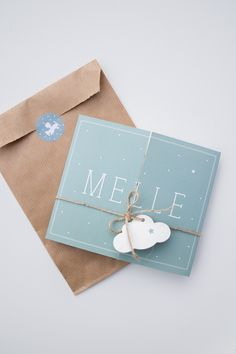 Geboortekaartje luik van Melle, met wolklabel - ontwerp door Leesign - leesign.nl #jongen #geboortekaart #geboortekaartje #birth #announcement #fairepart #jongentje #wolkje #label #leesign #ster