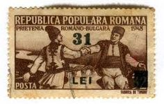 catalog c. 1948 Stamp depicts Romanian-Bulgarian friendship Designed by A. Stamp World, Love Stamps, Vintage Stamps, Friendship, Baseball Cards, History, Bulgarian, Folk Costume, Art