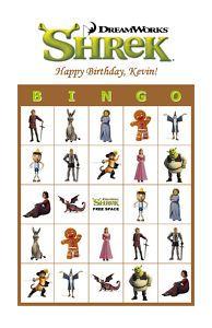 Shrek bingo