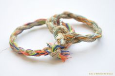 Rope bracelet by // Between the Lines //, via Flickr