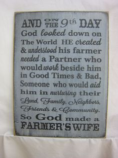 God Made a Farmers Wife.... Rustic Sign