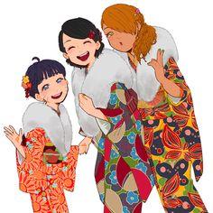 Himawari, Sarada and Chouchou.. Boruto Girls