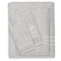 Linum Home Textiles Denzi 4 Piece Monogrammed Towel Set Gray - DNZ95-4C-LF-00-F