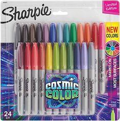 Sharpies, Sharpie Markers, Marker Pen, Permanent Marker, Art Journal Pages, Sharpie Colors, Pen Sets, School Supplies, Art Supplies