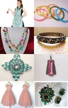 Mixin' it up all vintage jewelry and fashions!  --Pinned with TreasuryPin.com