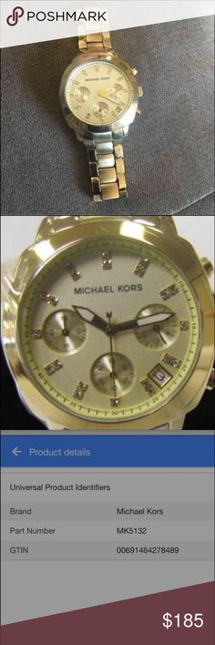 WOMANS MICHAEL KORS WATCH WOMANS MICHAEL KORS.         WATCH  •MK-5132 •Almost New •Really Nice Watch •Never got around to use It and lost the box •Originaly cost $250+tx •Selling It because need money ((With a stylish gold tone stainless steel bracelet and chronograph feature this trendy Michael Kors watch will make an accompanying addition to your wardrobe.)).  Thank You for looking.. Michael Kors Jewelry