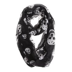 Chikamika Skull Print Scarf Womens Lightweight Scarves * Click image for more details.