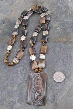 Boho Necklace, Gemstone Necklace, Boho Jewelry, Beaded Jewelry, Jewelry Accessories, Jewelry Design, Soutache Jewelry, Diy Schmuck, Schmuck Design