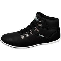 Air Balance Mens Black/White High Top Fashion Sneakers Air Balance