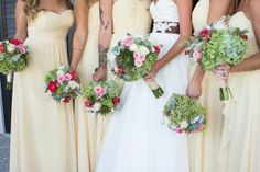 Charleston wedding at Dunes West Golf Club via Grace Hill Photography Pale Yellow Bridesmaid Dresses, Marry Me, Wedding Season, Real Weddings, Shabby Chic, Wedding Yellow, Chiffon, Gowns, Entourage