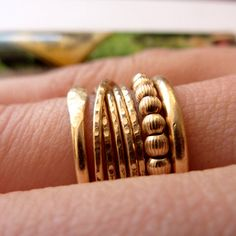 Gold Ring  One Modern Stacking Ring  Handmade by VenexiaJewelry, $59.00  14k gold filled