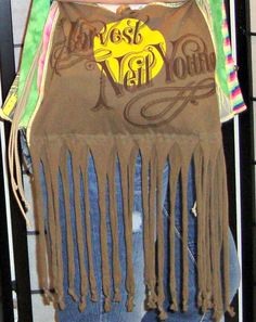 Fringed Neil Young Purse Upcycled Hippie Bag by PandorasPassions, $50.00