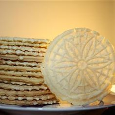 Pizzelles III Allrecipes.com.  Made these - AMAZING!