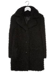 Topshop Płaszcz wełniany /Płaszcz klasyczny czarny