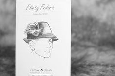 Flirty Fedora Hat Pattern from Judith M Millinary supplies