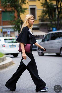 Ada Kokosar before Giorgio Armani fashion show. Milan Fashion Week SS 2016