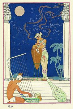George Barbier 'The Romance of Perfume' Egypt inspired