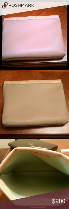 Neiman Marcus  big leather  clutch! It's very useful clutch you can fit so many things inside. It's handmade leather Barely used. Neiman Marcus Bags Clutches & Wristlets