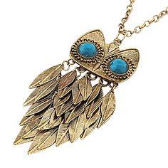 Retro Leaves Owl genser Chain Necklace – NOK kr. 23 Golden Necklace, Men Necklace, Pendant Necklace, Jewelery, Jewelry Necklaces, Owl Sweater, Necklace Online, Retro, Turquoise Necklace