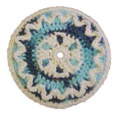 Ric Rac Potholder - A free Crochet pattern from jpfun.com.