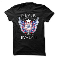 Never Underestimate The Power of  EVALYN - #softball shirt #sweater shirt. ORDER HERE => https://www.sunfrog.com/Names/Never-Underestimate-The-Power-of-EVALYN.html?68278
