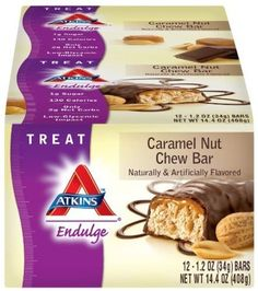 Atkins Endulge Bars, Caramel Nut Chew, 1.2-Ounce Bars, 12 Count - Was: $22.08 Buy Now: $13.15