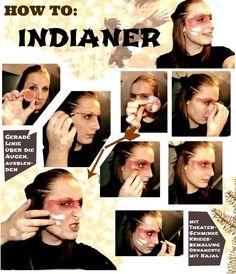 Super einfaches Indianer-Make Up für Karneval oder Halloween