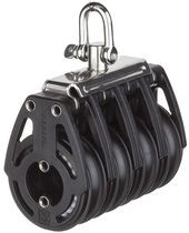 Cojinete de bolas de bloque / cuádruple / con la cabeza fija / máx.  cuerda de Ø 12 mm