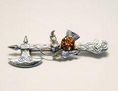 Vintage brooch. Axe brooch. Scottish by chicvintageboutique