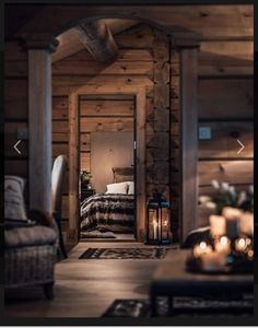 Log Home Decorating Gorgeous to breath taking ideas to produce that super amazing rustic area. log home decor ideas styling example id generated on 20190127 Cabins In The Woods, House In The Woods, Ideas De Cabina, Log Home Decorating, Decorating Blogs, Cabin Interiors, Log Cabin Homes, Log Cabins, Mountain Cabins
