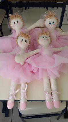 Coisa gostosa de fazer! Minhas primeiras bonecas bailarinas!