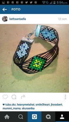 #pulsera de #telar #loom #shakiras #mostacilla #bijoux #handmade
