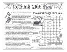 Learn about what inventors do, famous inventors, famous inventions, and six steps to invention, all with this Two-Page Activity Set!SAVE Buy our Inventions and Inventors BUNDLE!Keywords: invention | inventor | problem solving | problem-solving | creativity | innovation | creativity | technology | invention convention | Alexander Graham Bell | Thomas Edison | Marie Curie | Wright Brothers