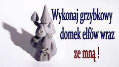 Miniature mushroom cottage hand made polymer clay tutorial grzybkowy domek,