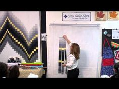 ▶ No-Measure Bargello- Strip Pattern by Cozy Quilt Designs - YouTube