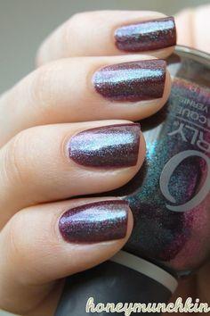 ORLY - Galaxy Girl #nailpolish Metallic Nail Polish, Glitter Nail Polish, Galaxy Art, Fabulous Nails, Tips Belleza, Swatch, My Style, Purple, Beauty