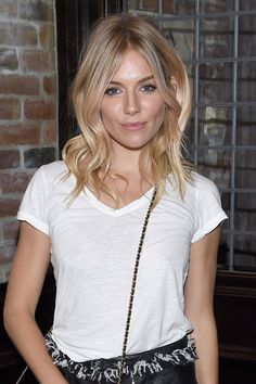 Brit-girl waves. Sienna Miller gives us hair envy once again!