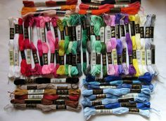 Embroidery Floss for stitching, friendship bracelets, embellishments and more.  Listia auction ends 10/04/2015