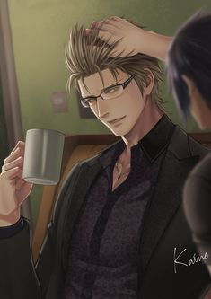 Ignis by kainelog on DeviantArt Final Fantasy Xv Ignis, Noctis Lucis Caelum, Anime Scenery Wallpaper, Fantasy Setting, Fantasy Series, Cloud Strife, Kingdom Hearts, Character Concept, Art Inspo