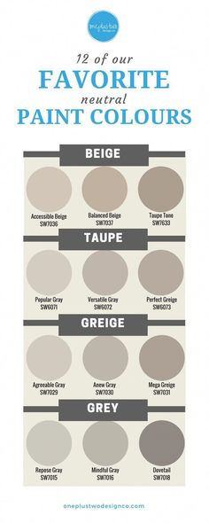 Neutrals are HOT, not bland! From Beige to Gray, learn which neutral paint colou… Neutrals are HOT, not bland! From Beige to Gray, learn which neutral paint colours are our favorite designer choices for your home's interior decor. Cabinet Paint Colors, Interior Paint Colors, Bedroom Paint Colors, Paint Colors For Home, House Colors, Interior Plants, Balanced Beige Sherwin Williams, Best Neutral Paint Colors, Paint Colours