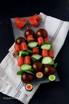Mango & Tomato: Play With Your Food: Watermelon, Tomato & Cucumber Skewers