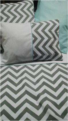 Grey Chevron cotton Cot Duvet Cover with Pillows Cot Duvet, Nursery Bedding Sets, Grey Chevron, How To Make Bed, Little Ones, Duvet Covers, Comforters, Quilting, Blanket
