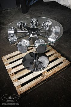23 Awesome DIYs Made From Old Upcycled Car Parts is part of Industrial Rustic furniture Ana White - DIY Automotive Car These old car parts have actually been upcycled right into several of the most amazing as well as imaginative DIY tasks I've ever seen! Car Part Furniture, Automotive Furniture, Furniture Design, Automotive Group, Furniture Removal, Metal Projects, Welding Projects, Car Part Art, Car Parts Decor